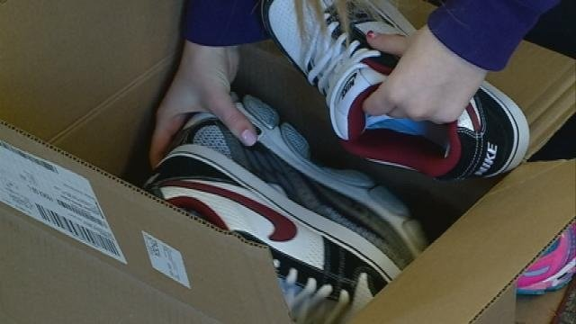 Students collect shoes for 'Soles4Souls' event