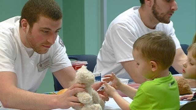 Children learn about health field at 9th Annual Teddy Bear Clinic