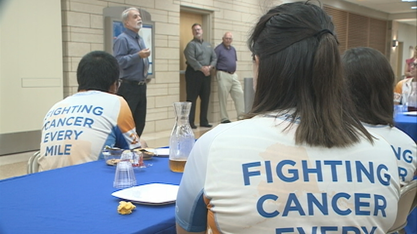 Group biking 4000+ miles for cancer research stops in La Crosse