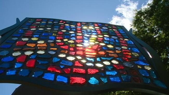 New sculpture installed on Viterbo's campus