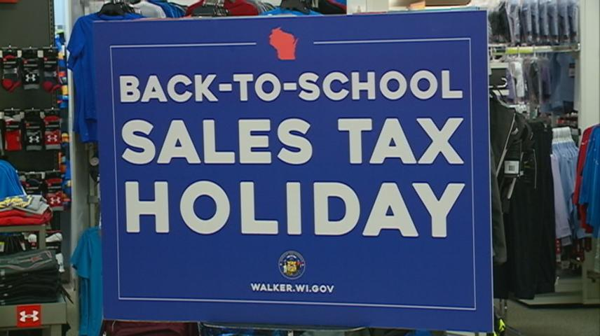 Wisconsin Governor Walker touts tax holiday