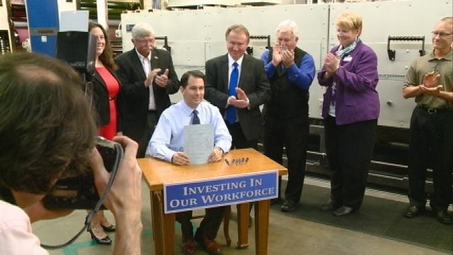 Workforce training ceremonial signing