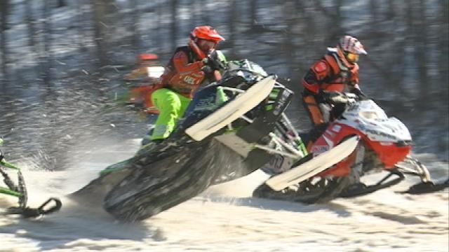 Dozens take part in Timber Coulee Thunder Snowmobile Races