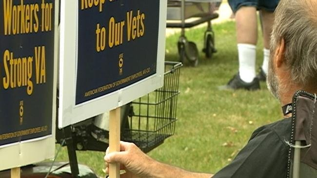 Protesters picket in Tomah to save VA hospitals