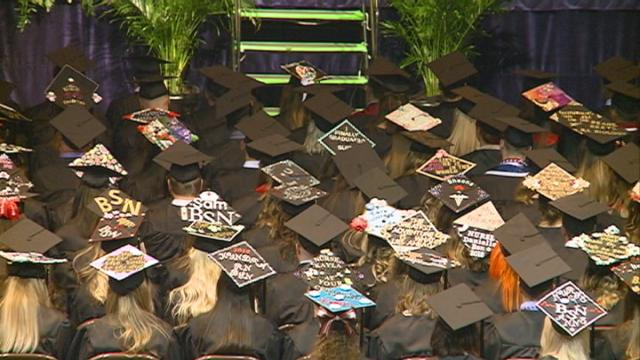 More than 400 Viterbo students packed the La Crosse Center for spring commencement