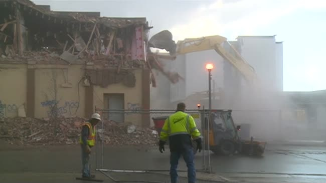 Chapter II demolition makes room for hotel parking lot