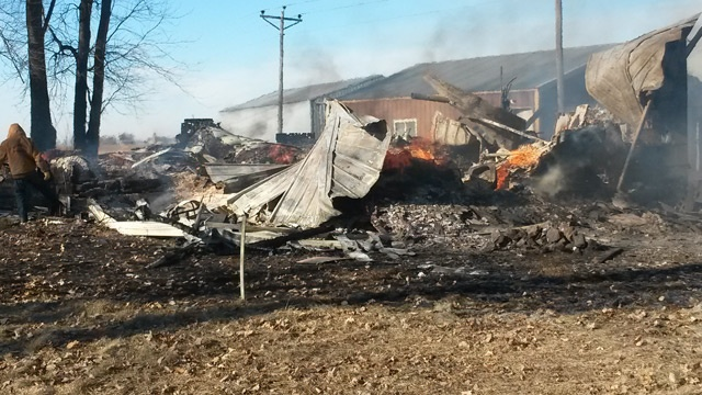 Fire destroys house in Viroqua