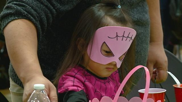 Viterbo creates fun and games for trick-or-treaters
