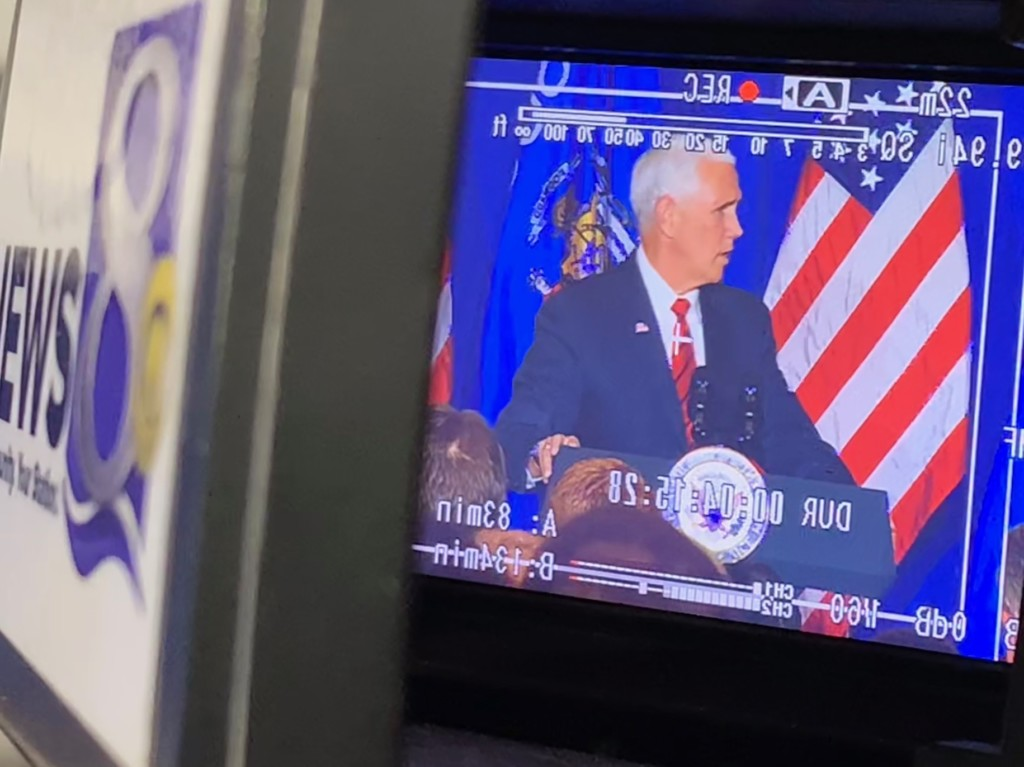V.P. Pence campaigns for Gov. Walker in Eau Claire