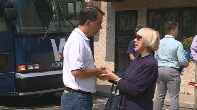A bus tour brings Wisconsin's head of state to the area