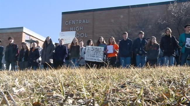 La Crosse Central High School students participate in National School Walkout
