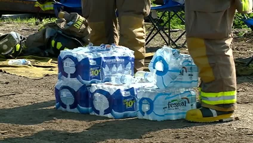 La Crosse Salvation Army helps firefighters stay hydrated, fed