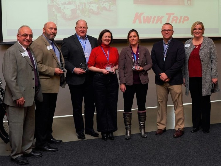 Kwik Trip receives award for sustainable transportation efforts.