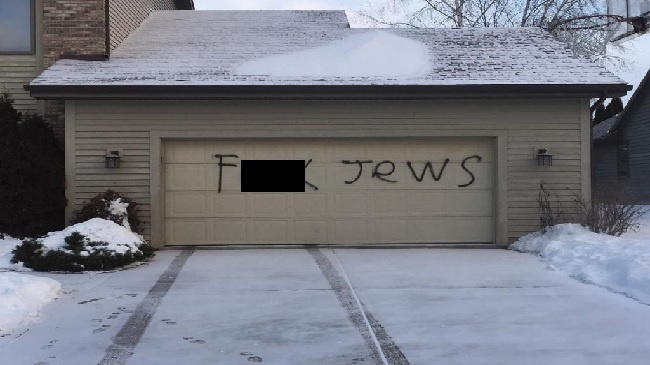 Rash of anti-Semitic graffiti includes at least 30 complaints