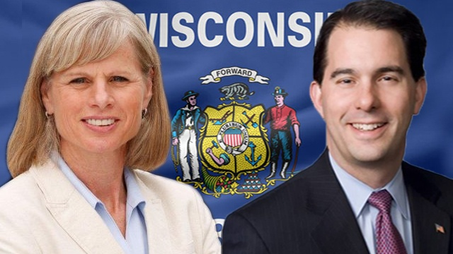 Walker ahead in last poll before election