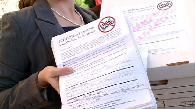 Petitions call for sand mining moratorium in Minn.