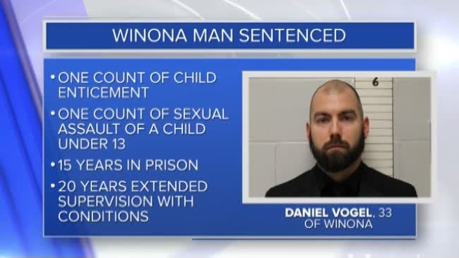 Winona man sentenced to 15 years for child sex crimes