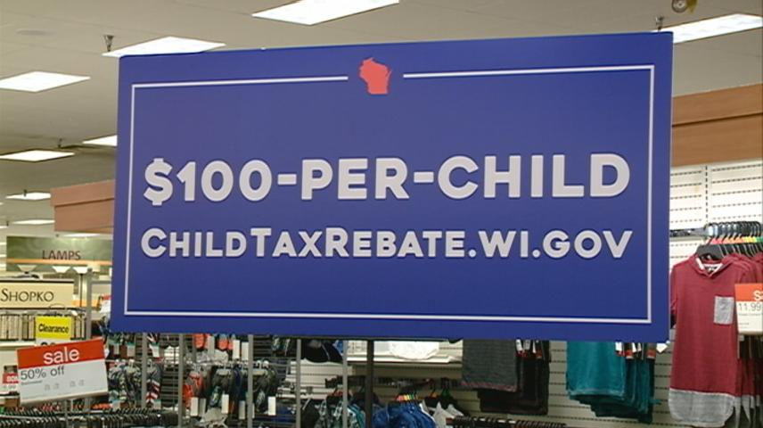 Wisconsin Department of Revenue urging parents to sign up for Child Tax Rebate