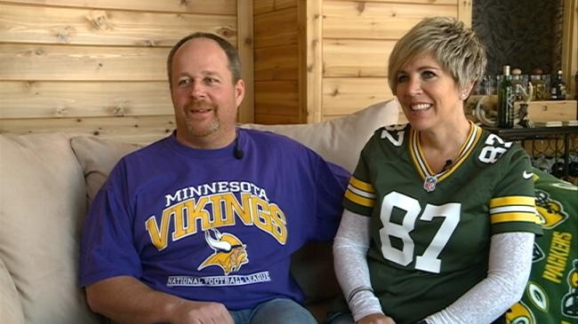 Family divided over Sunday's Packers-Vikings game