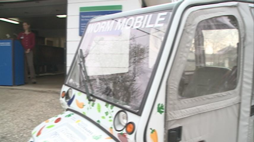 Electric car donated to local composting project