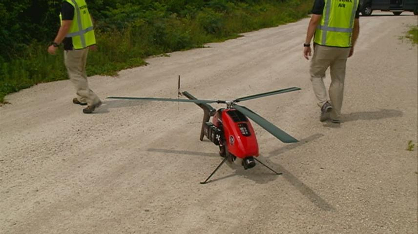 Unmanned drones helping crews maintain power lines in Wisconsin