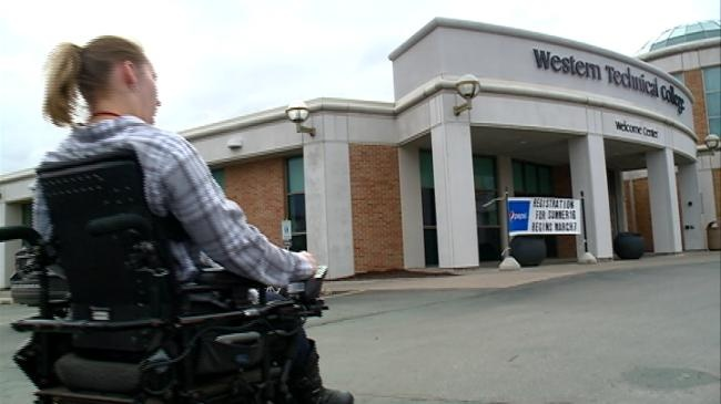 Student graduates with help of accessibility changes at Western Technical College