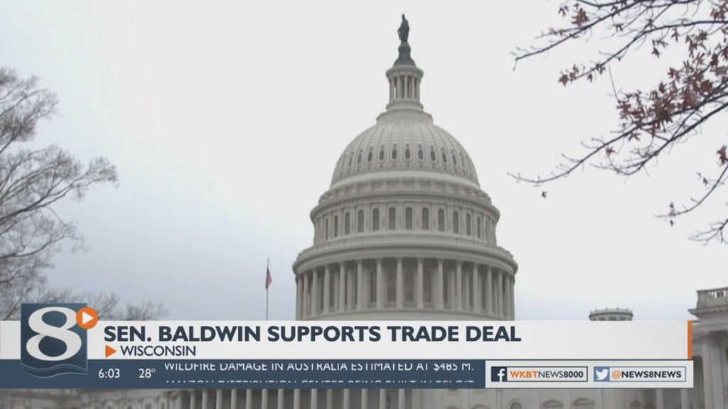 Sen. Baldwin endorses trade deal