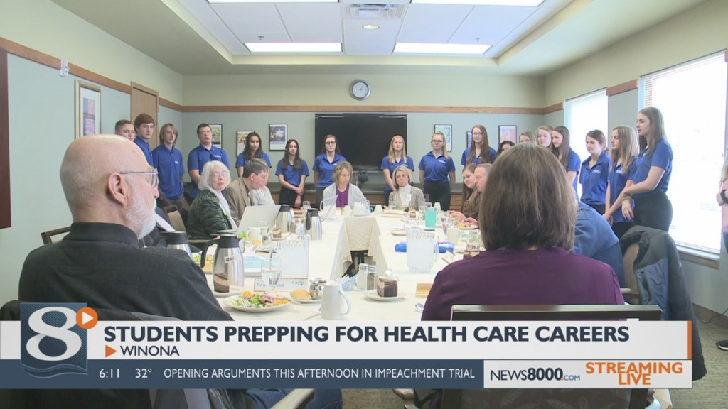 Winona Senior High School students get hands-on experience in the health care field