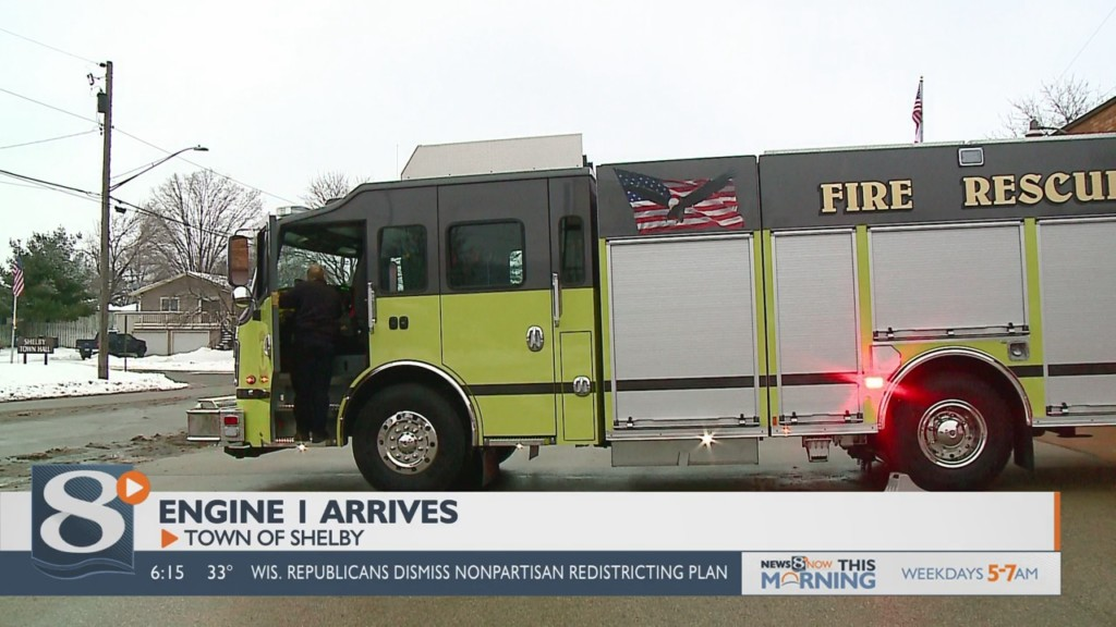 New fire truck arrives in Shelby
