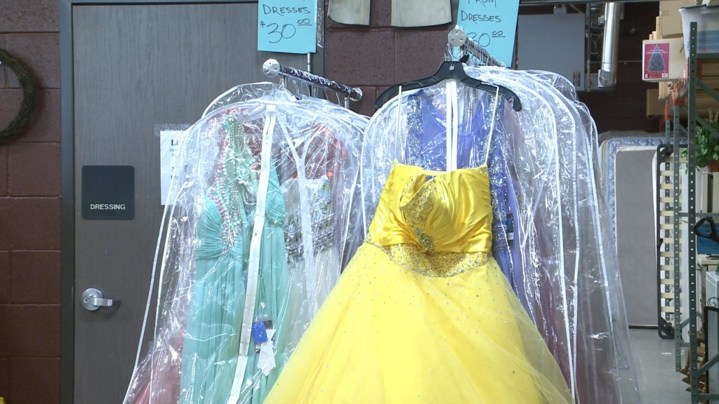 Donated Dresse at Salvation Army Thrift Store