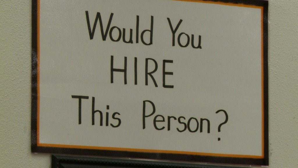 hiring sign in classroom