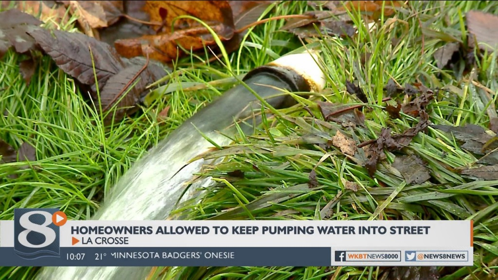 Some La Crosse homeowners allowed to continue pumping water into street