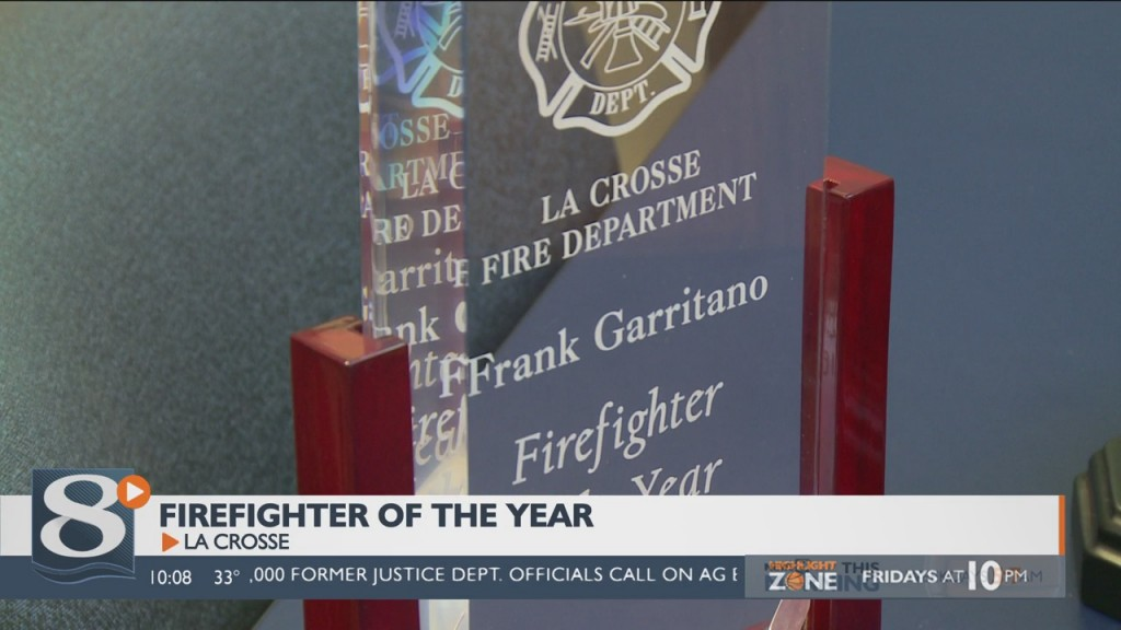 La Crosse Fire Department names firefighter of the year
