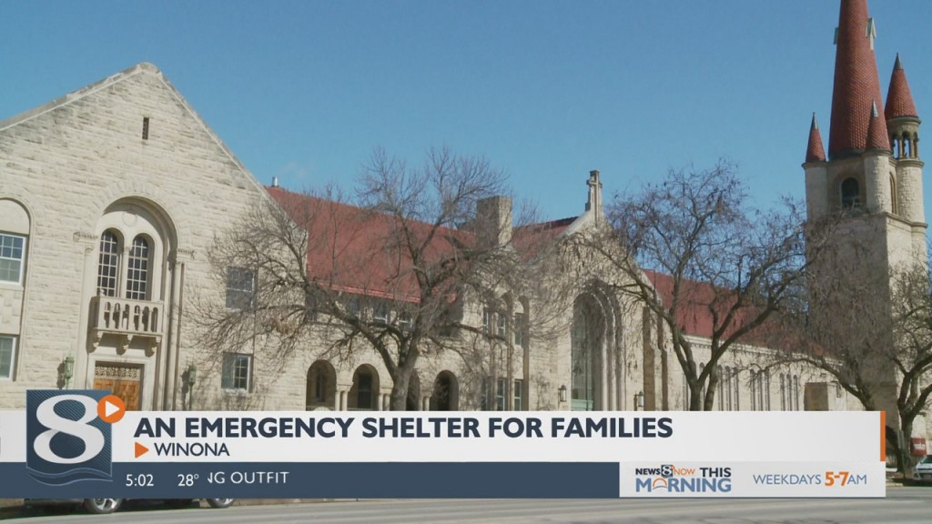 Emergency Shelter Being Constructed Inside Winona Church