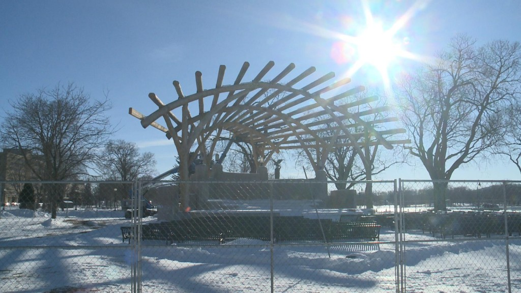 Band Shell Work To Resume