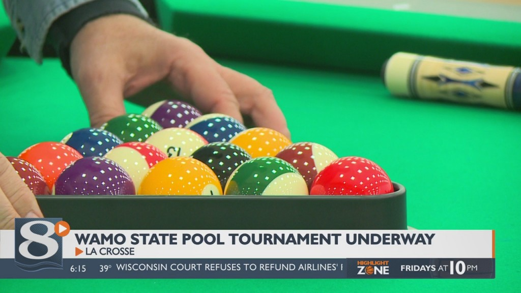 Wamo State Pool Tournament Underway In La Crosse