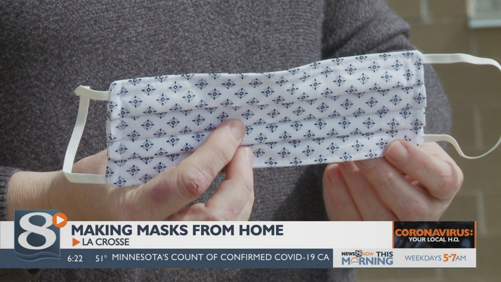 Local Woman Making Masks From Home To Help Fight Equipment Shortage