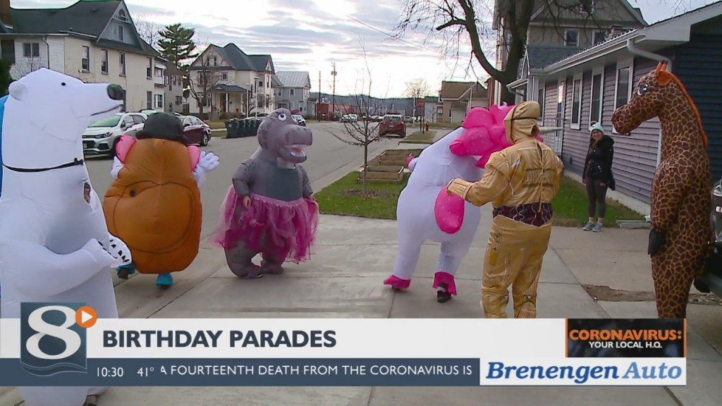 'birthday Parades' Bringing Smiles To Area Kids Social Distancing On Their Special Day