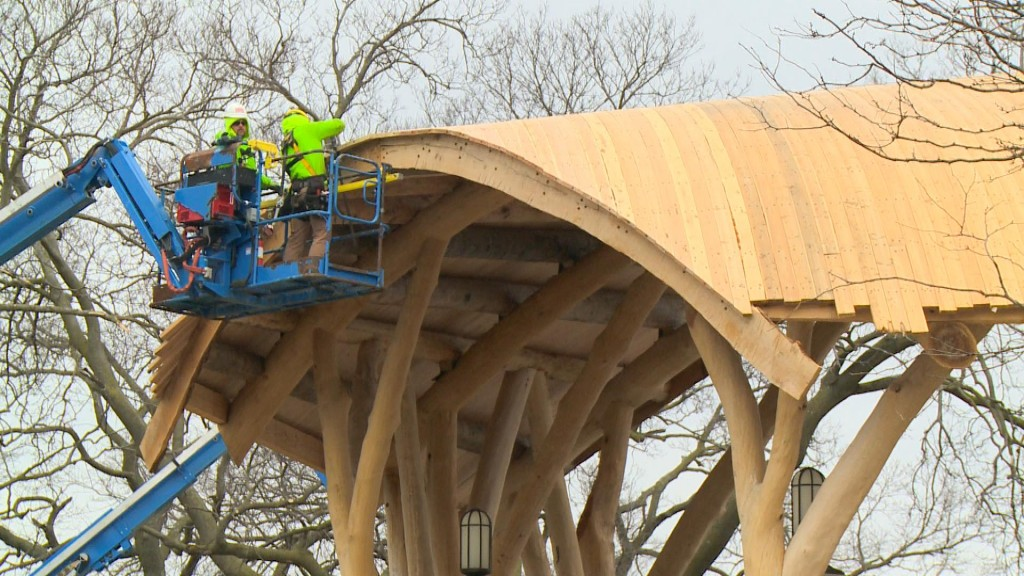 Band shell work continues