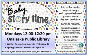 Baby Story Time at the Onalaska Library @ Onalaska Public Library