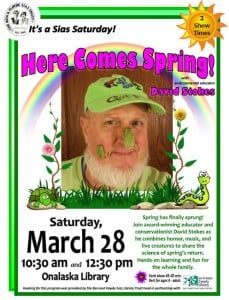 Sias Saturday Here Comes Spring Event at the Onalaska Library @ Onalaska Public Library