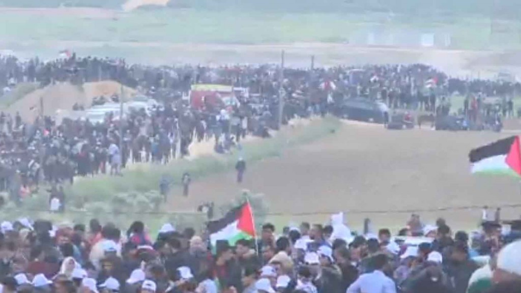 Israel destroys Gaza tunnel, boosts troop numbers, ahead of expected protests