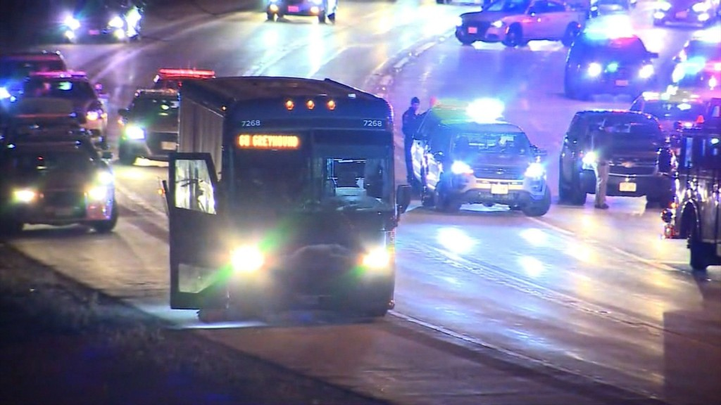 Reports of armed man on Greyhound bus spur police chase, arrest