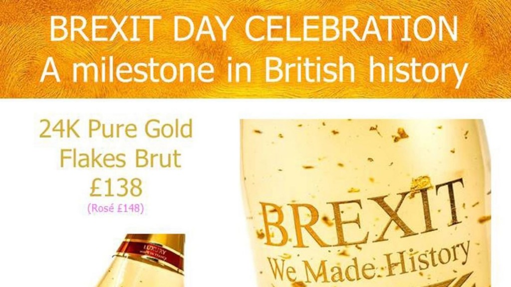 French company selling gold-flaked Brexit celebration wine