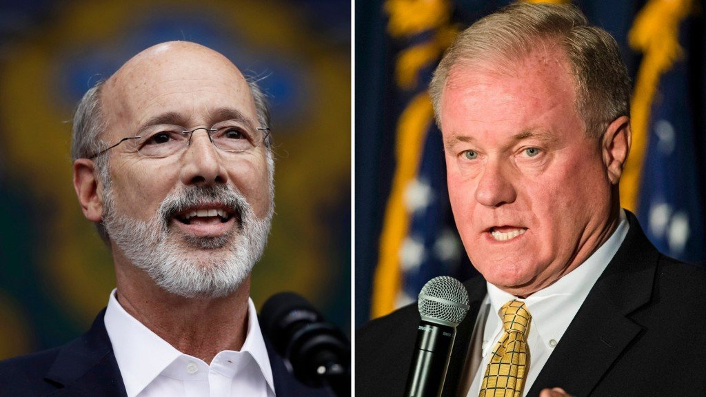 Pa. candidate says he'll stomp over governor's face