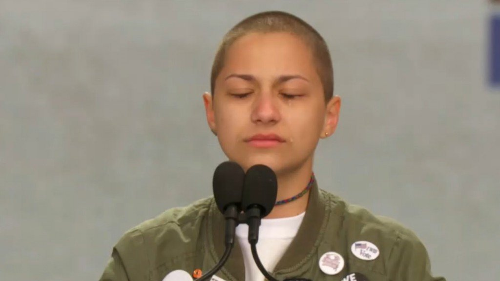 No, Emma Gonzalez did not tear up a photo of the Constitution