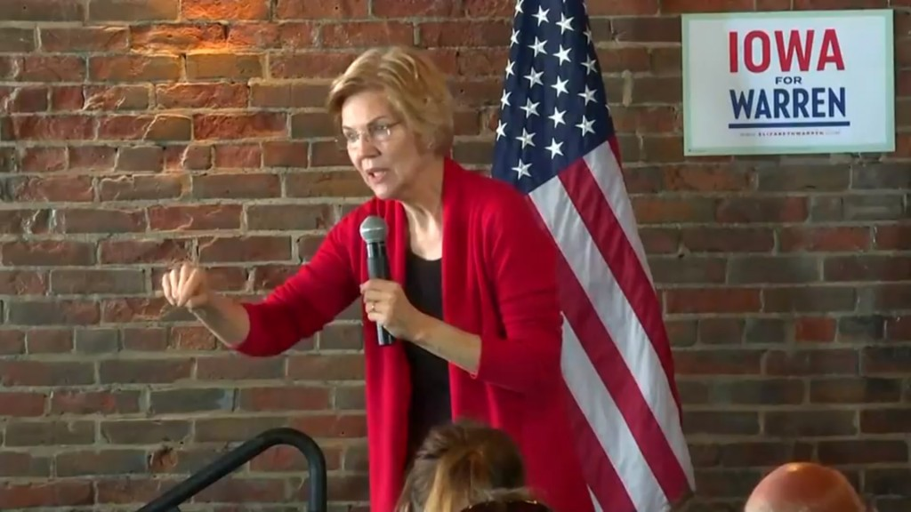Warren dim on raising gas taxes to pay for infrastructure