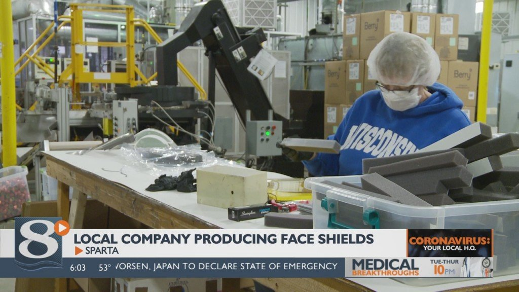 Sparta Company Spartek Begins Producing Face Shields For Healthcare Workers