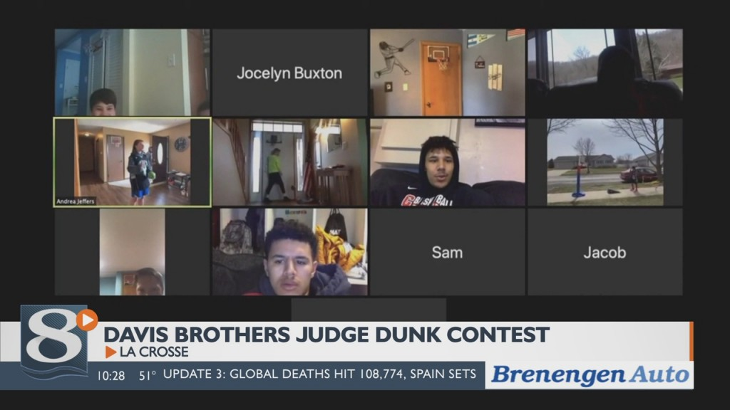Davis Brothers Judge Indoor Dunk Contest Virtually