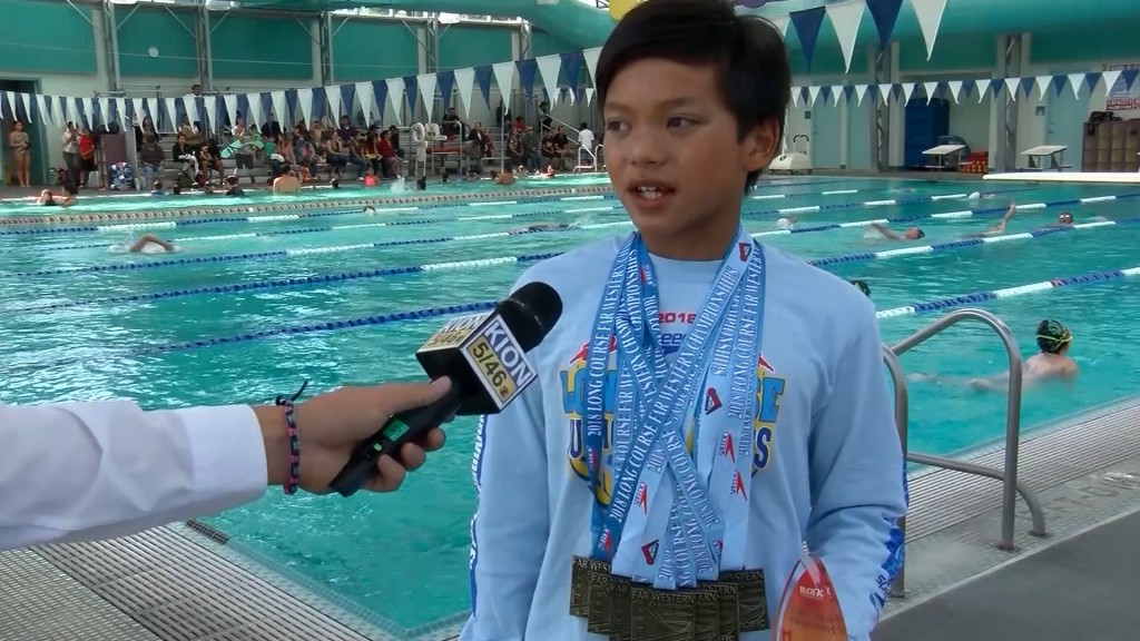 A 10-year-old named Clark Kent beat a Michael Phelps record